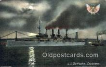 shi003553 - US Battleship, Louisiana Military Battleship Postcard Post Card Old Vintage Anitque