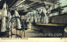 shi003554 - US Battleship Military Battleship Postcard Post Card Old Vintage Anitque