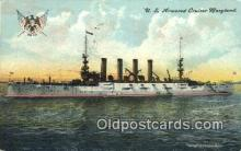 shi003555 - US Armored Cruiser Maryland Military Battleship Postcard Post Card Old Vintage Anitque