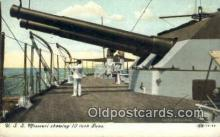shi003557 - USS Missouri Military Battleship Postcard Post Card Old Vintage Anitque