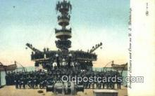 shi003558 - US Battleship Military Battleship Postcard Post Card Old Vintage Anitque