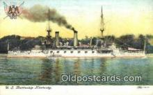 shi003568 - US Battleship Kentucky Military Battleship Postcard Post Card Old Vintage Anitque