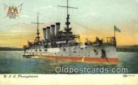 shi003574 - USS Pennsylvania Military Battleship Postcard Post Card Old Vintage Anitque