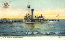 shi003576 - US Monitor Miantonomah Military Battleship Postcard Post Card Old Vintage Anitque