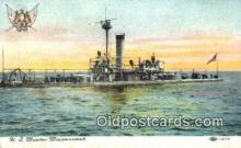 shi003578 - US Monitor Miantonomah Military Battleship Postcard Post Card Old Vintage Anitque