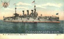 shi003586 - US Armored Cruiser New York Military Battleship Postcard Post Card Old Vintage Anitque