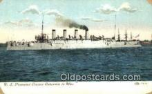 shi003589 - US Protected Cruiser Columbia Military Battleship Postcard Post Card Old Vintage Anitque