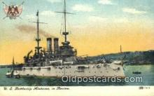 shi003604 - US Battleship Alabama Military Battleship Postcard Post Card Old Vintage Anitque
