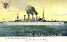 shi003605 - us Armored Cruiser Colorado Military Battleship Postcard Post Card Old Vintage Anitque