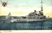 shi003608 - USS Oregon Military Battleship Postcard Post Card Old Vintage Anitque