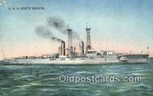 shi003626 - USS North Dakota Military Battleship Postcard Post Card Old Vintage Anitque