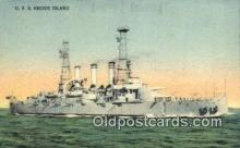shi003628 - USS Rhode Island Military Battleship Postcard Post Card Old Vintage Anitque