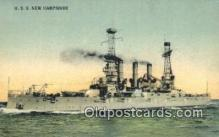 shi003630 - USS New Hampshire Military Battleship Postcard Post Card Old Vintage Anitque