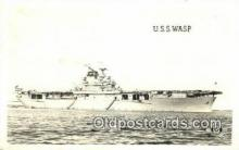 shi003641 - USS Wasp, Real Photo Military Battleship Postcard Post Card Old Vintage Anitque
