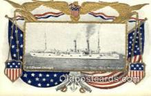 shi003650 - US Cruiser Chicago Military Battleship Postcard Post Card Old Vintage Anitque
