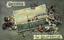 shi003660 - USS Connecticut Military Battleship Postcard Post Card Old Vintage Anitque