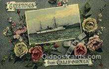 shi003661 - USS Glacier, California Military Battleship Postcard Post Card Old Vintage Anitque