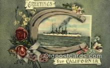 shi003665 - USS Vermont Military Battleship Postcard Post Card Old Vintage Anitque