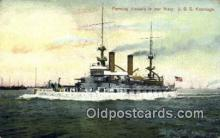 shi003672 - USS Kearsage Military Battleship Postcard Post Card Old Vintage Anitque