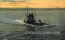 shi003674 - US Submarine Grampus, San Diego, CA Military Battleship Postcard Post Card Old Vintage Anitque