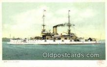shi003686 - USS Alabama Military Battleship Postcard Post Card Old Vintage Anitque
