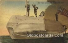 shi003695 - The Holland, Submarine Boat Military Battleship Postcard Post Card Old Vintage Anitque