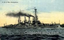 shi003707 - USS New Hampshire Military Battleship Postcard Post Card Old Vintage Anitque