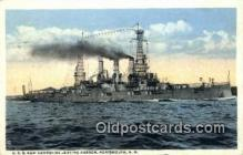 shi003708 - USS New Hampshire Military Battleship Postcard Post Card Old Vintage Anitque