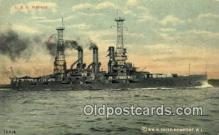 shi003716 - USS Kansas Military Battleship Postcard Post Card Old Vintage Anitque