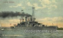 shi003718 - USS Michigan Military Battleship Postcard Post Card Old Vintage Anitque