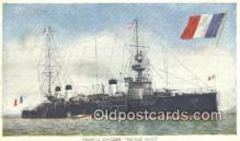 shi003736 - French Cruiser Victor Hugo Military Battleship Postcard Post Card Old Vintage Antique