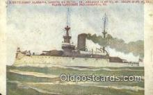 shi003749 - US BS Alabama, Philadelphia, Pennsylvania, PA USA Military Battleship Postcard Post Card Old Vintage Antique