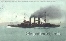 shi003755 - USS Nebraska Military Battleship Postcard Post Card Old Vintage Antique
