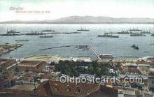 shi003816 - Gibraltar Military Battleship Postcard Post Card Old Vintage Antique