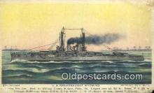 shi003836 - US Dreadnaught Wyoming Military Battleship Postcard Post Card Old Vintage Antique