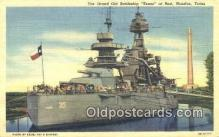 shi003839 - Old Texas, Houston, Texas, TX USA Military Battleship Postcard Post Card Old Vintage Antique