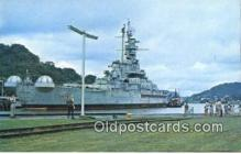 shi003842 - USS Alabama Military Battleship Postcard Post Card Old Vintage Antique
