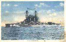 shi003850 - USS Wyoming Military Battleship Postcard Post Card Old Vintage Antique