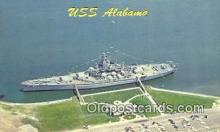 shi003865 - USS Alabama Military Battleship Postcard Post Card Old Vintage Antique