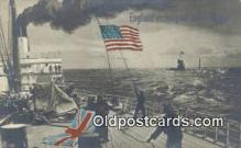 shi003877 - England Verleugnet Seine Flagge Military Battleship Postcard Post Card Old Vintage Antique