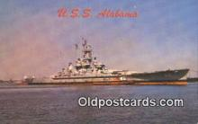 shi003885 - USS Alabama Military Battleship Postcard Post Card Old Vintage Antique