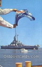 shi003887 - USS Alabama Military Battleship Postcard Post Card Old Vintage Antique