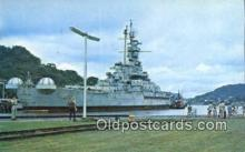 shi003896 - USS Alabama Military Battleship Postcard Post Card Old Vintage Antique