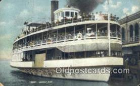 Belle Isle Pleasure boat, Detroit, Michigan, MI USA