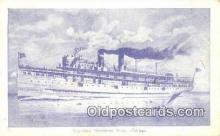 shi003910 - Theodore Roosevelt Boat, Chicago Postcard Post Card Old Vintage Antique