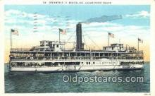 shi003911 - Steamer G A Boeckling, Cedar Point Route Postcard Post Card Old Vintage Antique