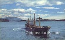 shi003914 - Alaska Steamship, Cargo Freighter, Near Kodiak Postcard Post Card Old Vintage Antique