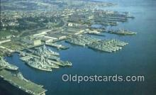 shi003932 - US Naval Ship Yard, Bremerton, Washington, WA USA Military Battleship Postcard Post Card Old Vintage Antique