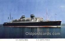 shi003942 - SS Santa Rosa, SS Santa Paula Postcard Post Card Old Vintage Antique