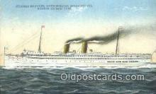 shi003948 - Steamer Harvard Postcard Post Card Old Vintage Antique